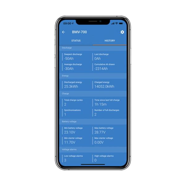 Battery Monitoring Status & History via Bluetooth App