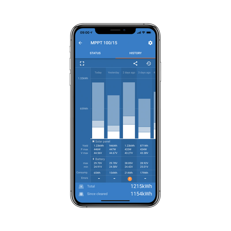 Solar Charge Controller History via Bluetooth App